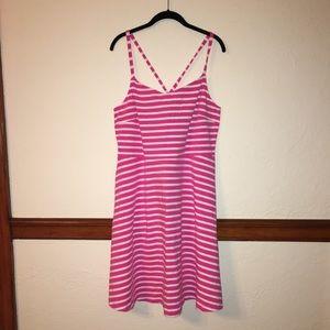 Old Nacy Pink & White Striped Sundress